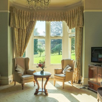 old vicarage residential home bakewell front room