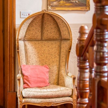 seat in the hallway of old vicarage bakewell