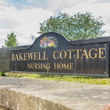 bakewell cottage nursing home sign