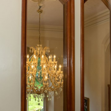 the old vicarage care home bakewell chandalier